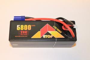 Lipo 4S 14.8V 5800mAh 70C EC5 Kontakt Hardcase