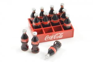 Coca-Cola back med flaskor Skala 1/10 Crawler Dekoration