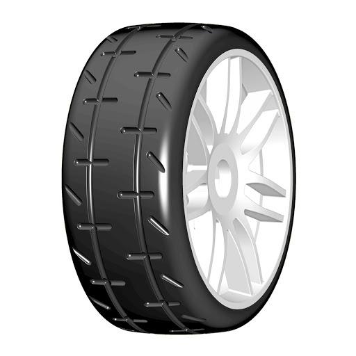 GRP Tyres 1:8 GT Däck/Fälg Färdiglimmat T01