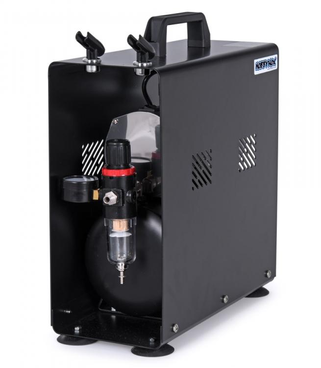 Airbrush Kompressor 1/6HP med 3L Tank (0-4BAR) Hobbynox