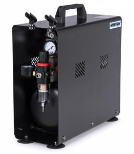 Airbrush Kompressor 1/4HP med 3.5L Tank (0-6BAR) Hobbynox