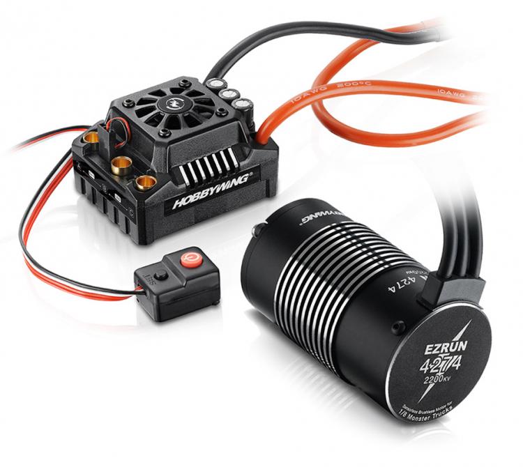 EzRun MAX8 ESC & 4274-2200Kv Sensorless Brushless Combo Set with TRX-Plugs