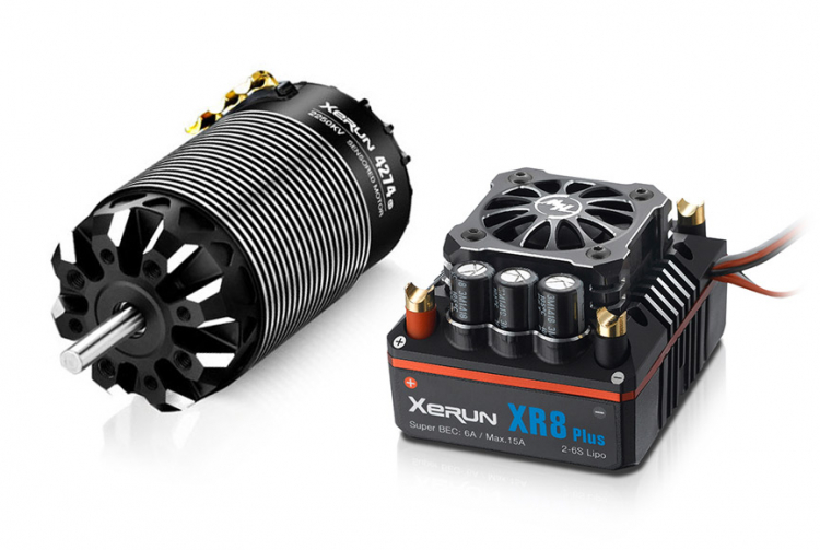Borstlöst System ESC XR8 Plus 150A Motor 4274SD G3 2250kv