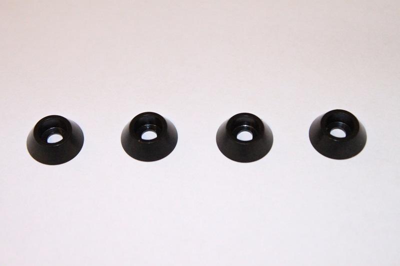 Bricka Konformad Stål Svart 3x12mm
