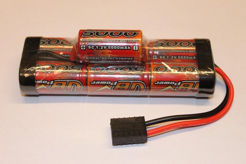 Batteripack 8,4V 5000mAh NiMh Traxxas kontakt