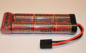 Batteripack 8,4V 5000mAh Rakt NiMh Traxxas kontakt