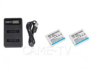 Extra Batterier (2 st) + Laddare till Intercomsystem Came-Tv Waero
