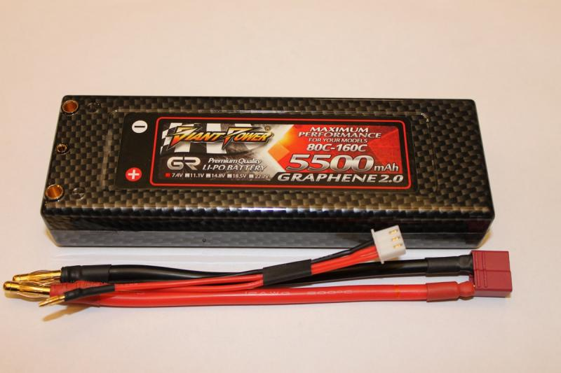 Giant Power Lipo 2S 7.4v 5500mAh Graphene 2.0 80C