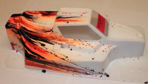 Kaross Målad Force Grunge/Orange MBX-7 Bittydesign