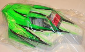 Kaross Målad Force Wave/Grön Xray XB9 Bittydesign
