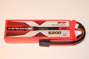 Lipo Batteri 3S 11.1V 5200mAh 80C ManiaX Traxxas kontakt
