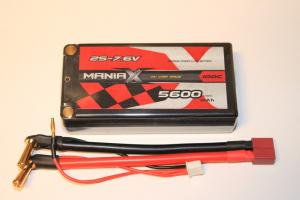 Lipo Batteri 7.6V 2S 5600mAh 100C Shorty ManiaX