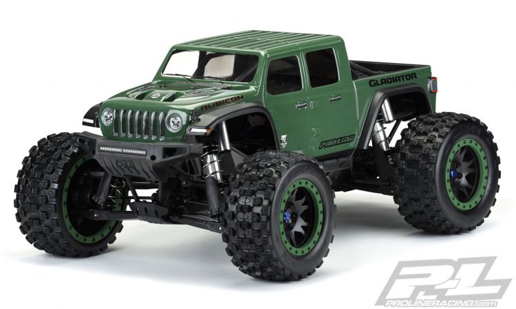 Kaross Jeep Gladiator Rubicon (Omålad/Klippt) för X-MAXX
