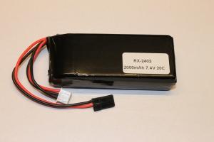 Mottagarbatteri Lipo Rakt 2000mAh 7.4V
