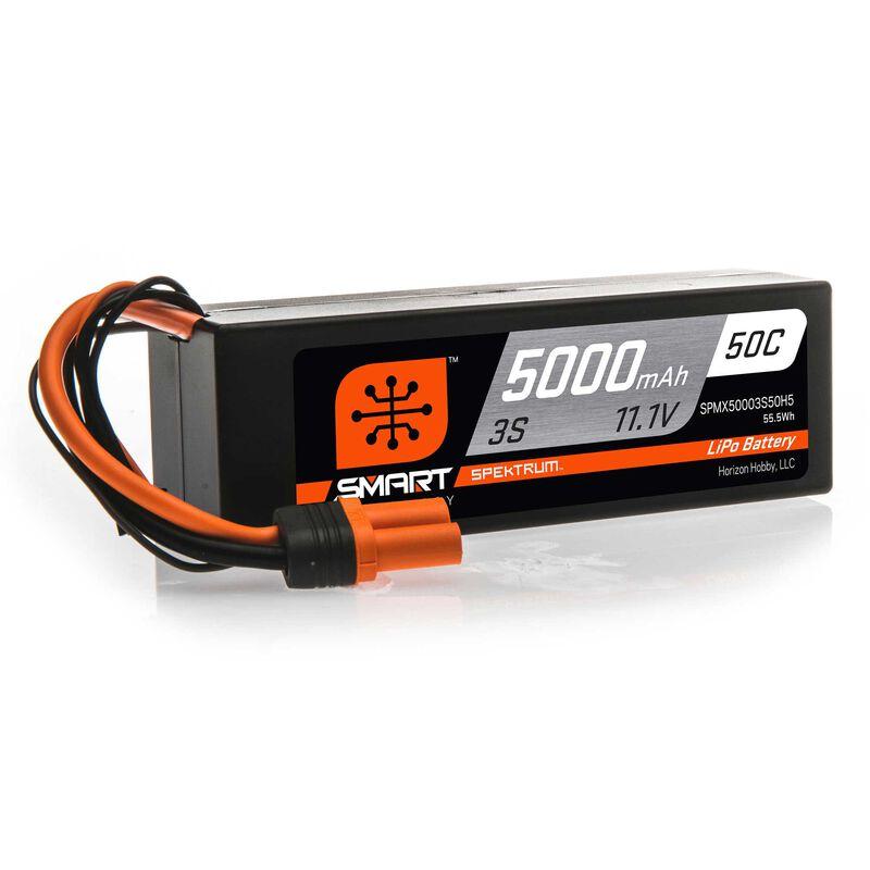 Smart LiPo 3S 11.1V 5000mAh 50C IC5 kontakt Spektrum