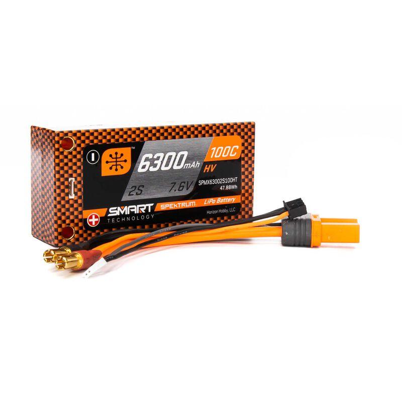 Smart LiPo 2S 7.6V 6300mAh HV 100C IC3 (EC3) kontakt Spektrum Shorty Hard case
