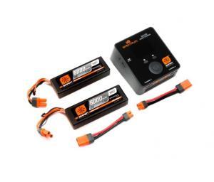 Spektrum Smart S2100 Laddare med två 7.4V 2S 5000mAH LiPo