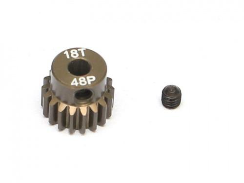 Motordrev 48P Hardcoated alu 3,17mm axel.