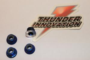 Muttrar Aluminium Självlåsande Lågprofil 4mm TI