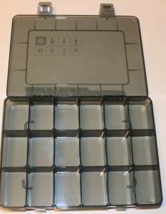 Sortimentslåda 18 fack 200x146x27mm