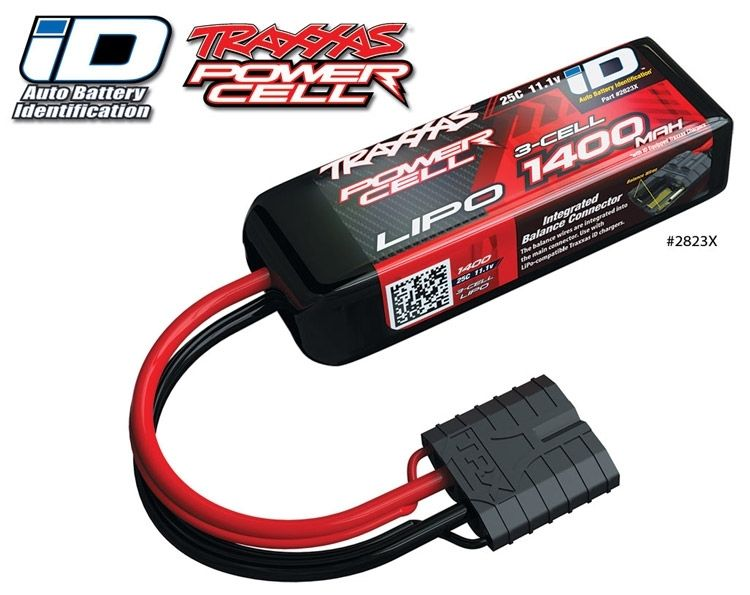 Li-Po Batteri 3S 11,1V 1400mAh 25C iD-kontakt