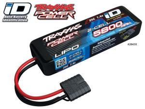 TRX2843X Li-Po Batteri 2S 7,4V 5800mAh 25C iD-kontakt