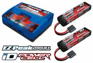 Laddare EX-Peak Dual 8A och 2 x 3S 11.1V 5000mAh Batteri Combo