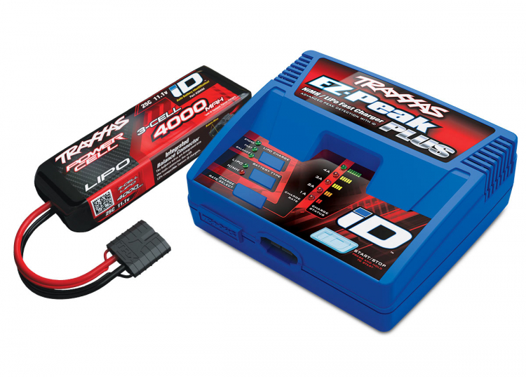 Laddare EZ-Peak Plus 4A och 3S 4000mAh Lipo-batteri Combo