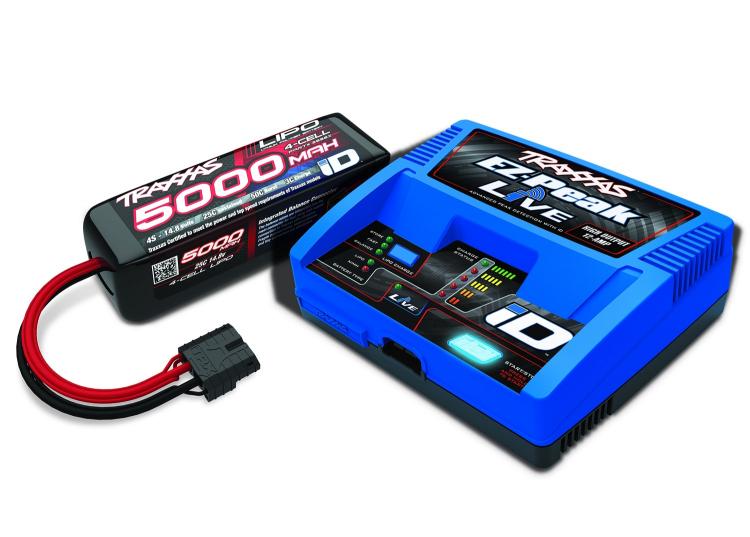 TRX2996GX Laddare EZ-Peak Live 12A & 4S 5000mAh batteri