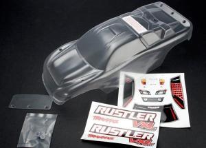 TRX3714 Kaross Rustler 2wd Omålad