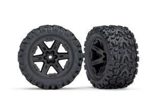 """TRX6773 Däck & Fälg Talon Extreme/RXT Svart 2.8"""" 4WD TSM"""