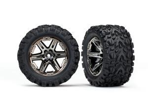"""TRX6773X Däck & Fälg Talon Extreme/RXT Svart Krom 2.8"""" 4WD TSM"""