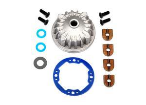 TRX6781 Diffhus Set Aluminium (till Mittdiff #6780) TRX Hoss / Rustler 4x4