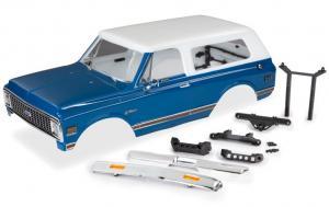 TRX9111X Kaross Chevy Blazer '72 Blå/Vit Komplett