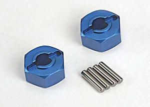 TRX1654X Fälgnav Aluminium Blå 12mm Traxxas