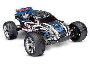 Traxxas Rustler 2WD 1/10 RTR TQ - Med Batteri/Laddare Borstad