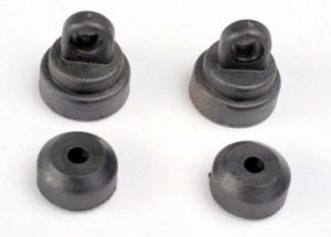 TRX3767 Shocks caps and shock bottom. Plast. Traxxas.