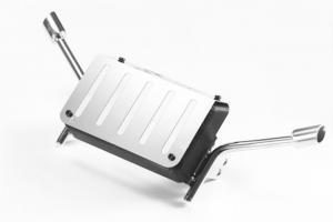 Bränsletank med avgasrör Rostfritt Stål K5 Blazer