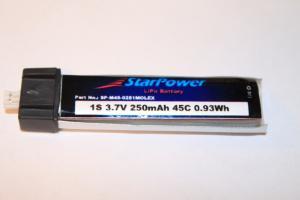 1S 3,7V 250mAh 45C Lipo Starpower