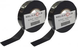 2-pack ELTEJP - SVART PVC 19mmx20m