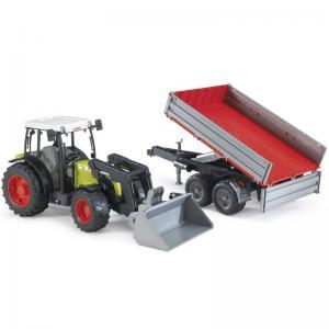 Claas Nectis 267 F traktor med frontlastare och vagn | Bruder 1:16