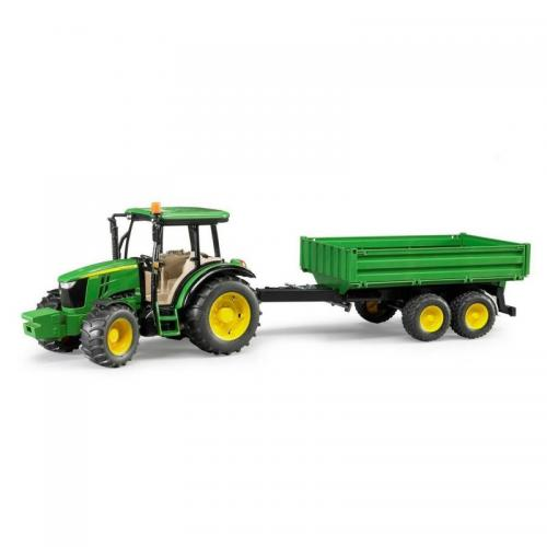 John Deere 5115M Traktor med släp | Bruder 1:16