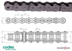 6mm (04B-1) Rullkedja Simplex Codex