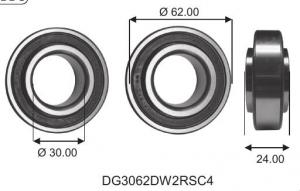 DG 3062 DW 2RS C4 Fordonslager