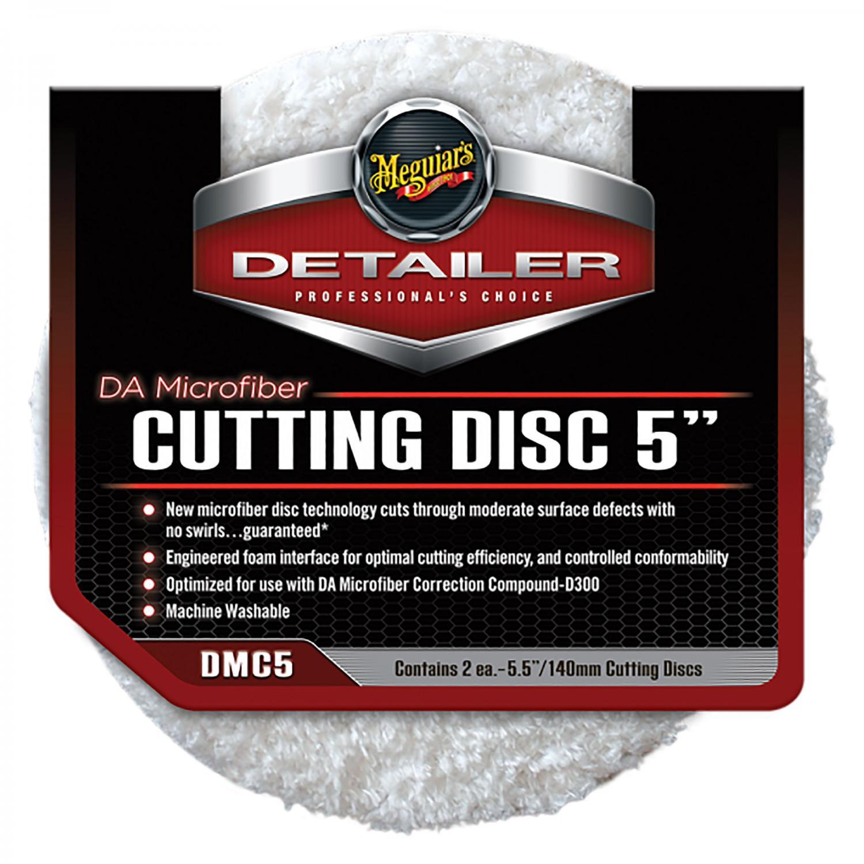 """DA Microfiber Cutting Pad 5"""" 2-pack - Meguiars"""