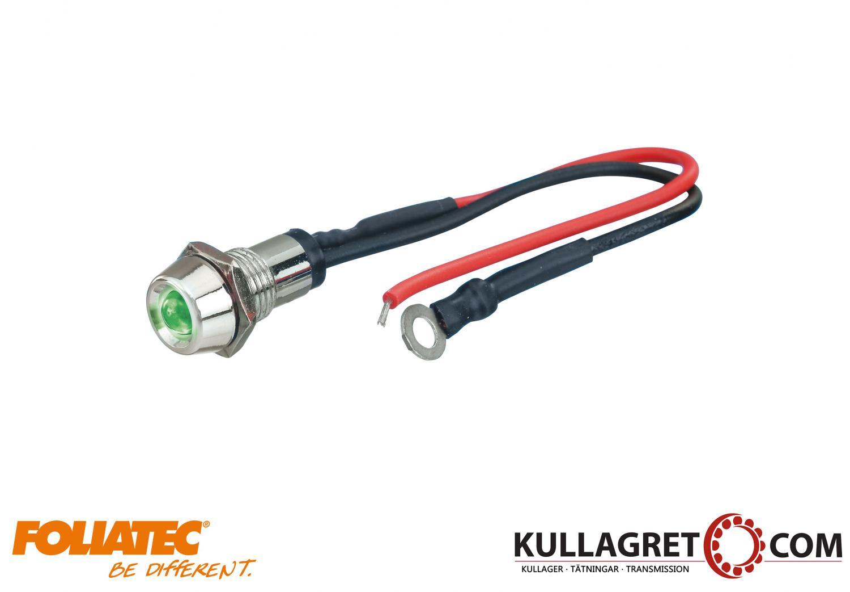 Grön Led Control Light Chrome Foliatec