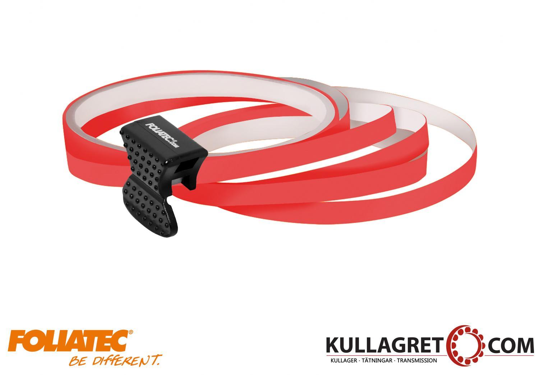 Neon Röd Pin Striping | Foliatec