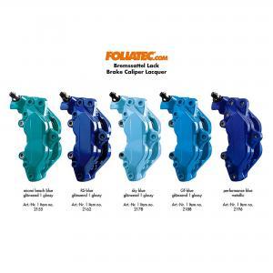 Miami Beach Blue Bromsoksfärg Foliatec 2-komponent