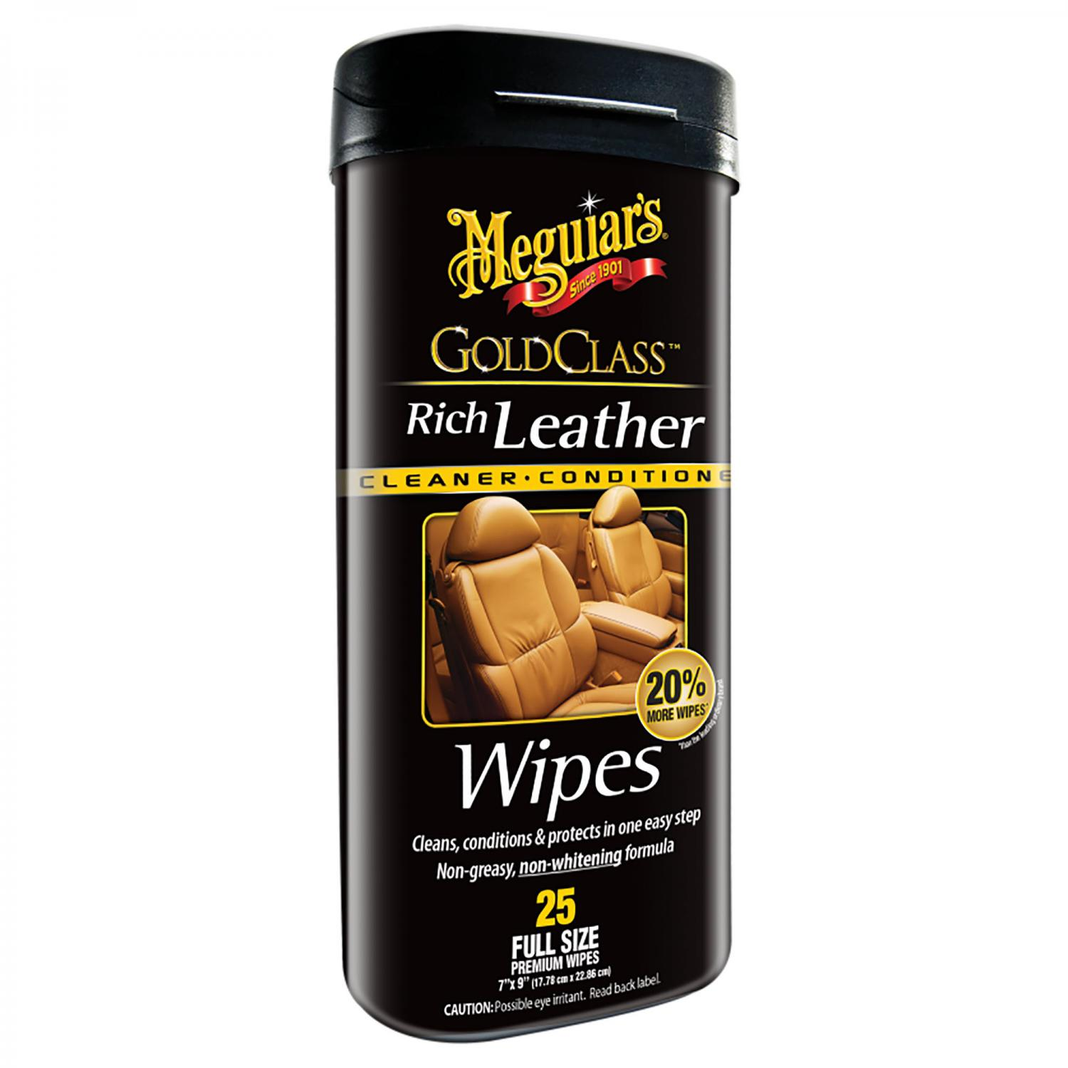 Gold Class Rich Leather Wipes   Meguiars