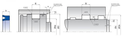 UN 3x7x3,5 U-Manschett PU